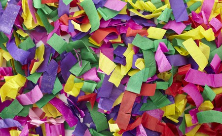 close up of confetti on white background Stock Photo - 7144111