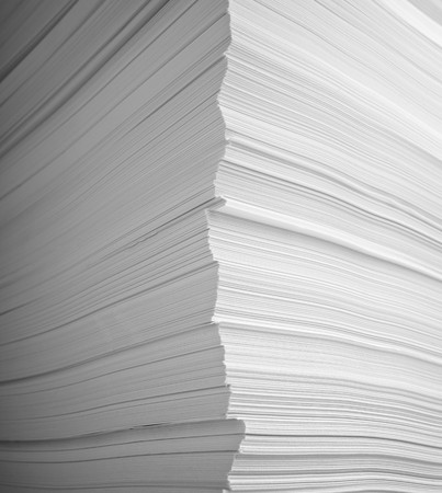 close up of stack of papers  photo