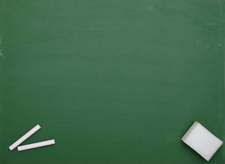teaching material: close up of an empty  chalk board