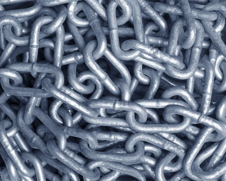 close up of metal chain part  background Stock Photo - 7431714