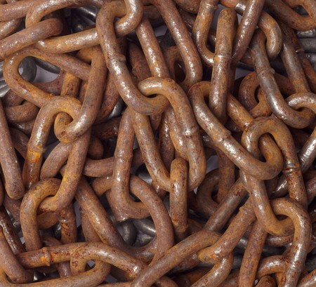 close up of metal chain part  background Stock Photo - 7469463