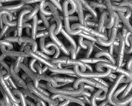 close up of metal chain part  background Stock Photo - 7469454