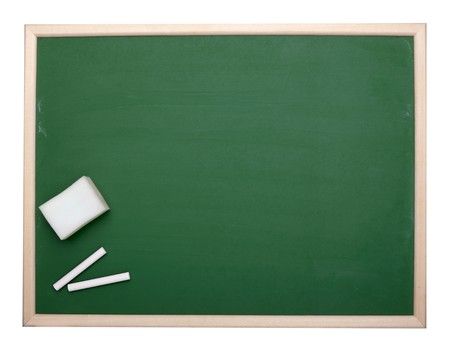 close up of an empty  chalk board Stock Photo - 7513364