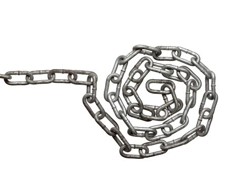 close up of metal chain part on white background Stock Photo - 7513221