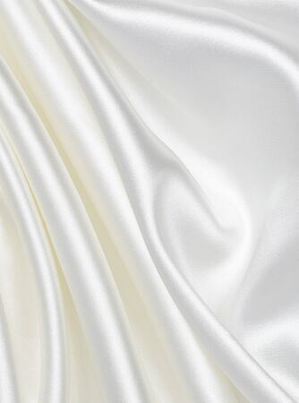 close up of white silk textured cloth background photo