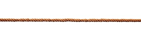 fastening objects: close up of rope part on white background Stock Photo