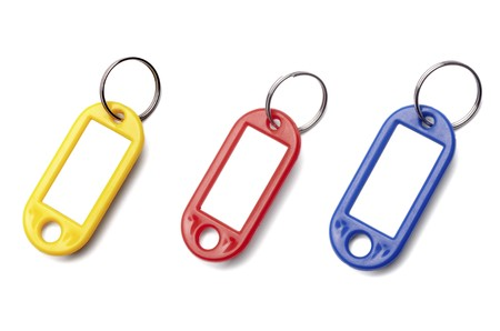 key fob: collection of a key fob on white background. each one is in full cameras resolution