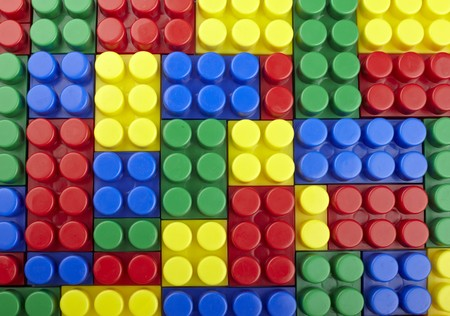 close up of child toy bricks construction  photo