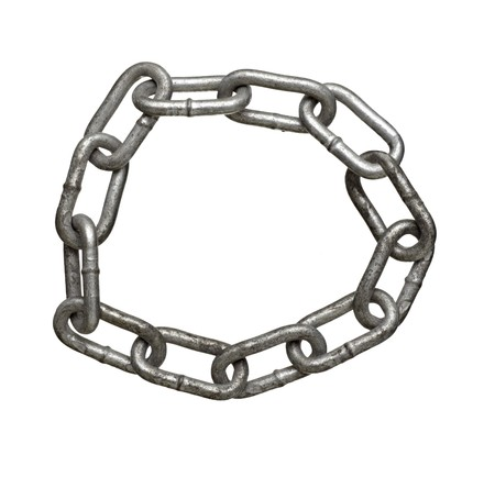 close up of metal chain part on white background Stock Photo - 7706247