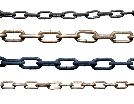 collection of metal chain parts on white background. each one is in full cameras resolution Stock Photo - 7832716