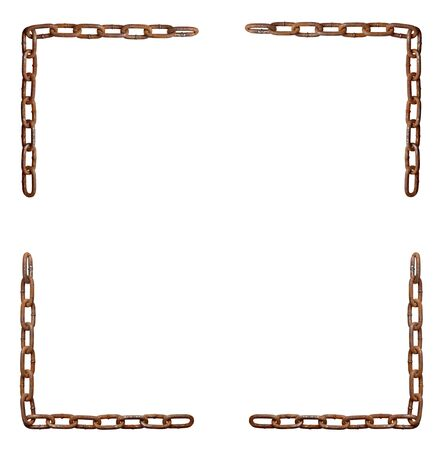 collection of metal chain parts on white background. each one is in full cameras resolution Stock Photo - 7832665