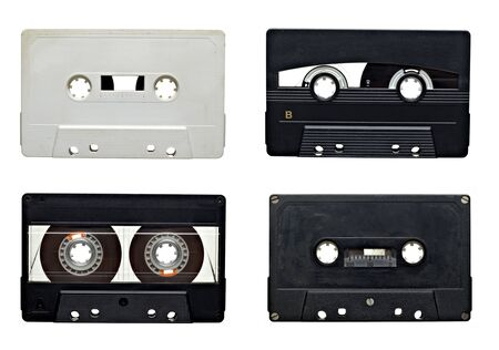 collection of old audio tapes on white background. each one is in full camera resolution Stock Photo - 7832778