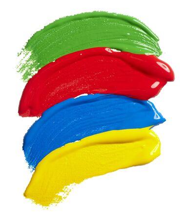 daub: close up of  color strokes