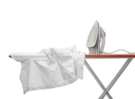 close up of ironing tool  on white background photo