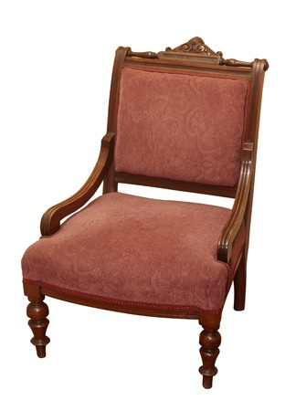 antique chair on white background  photo