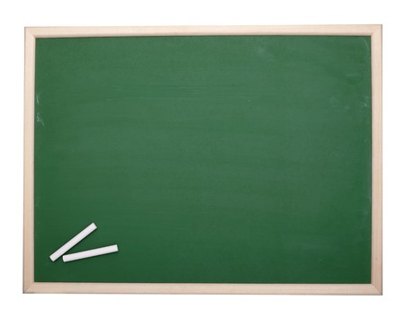 close up of an empty  chalk board Stock Photo - 8102745