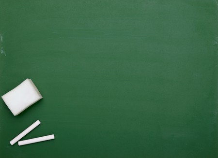 close up of an empty  chalk board Stock Photo - 8102728