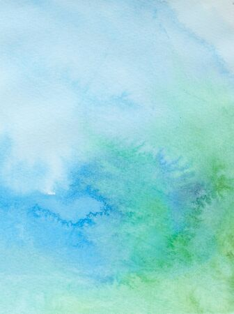 wash painting: close up of  water color strokes painting on white background