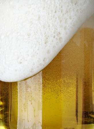 close up of glass of beer on white background  with clipping path Stock Photo - 8203040