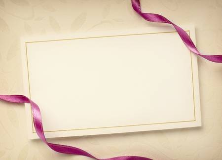 annotation: close up of a greeting card with decoration Stock Photo