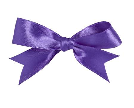 purple silk: close up of purple ribbon on white background