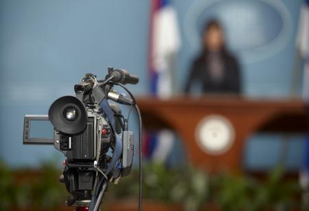 reportero: detalle de la reuni�n de la Conferencia y de la c�mara de radiodifusi�n