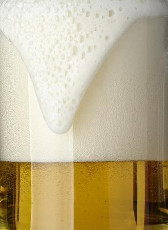 close up of glass of beer on white background Stock Photo - 8459106