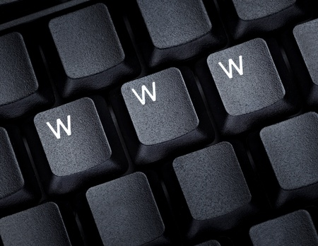 close up of word www on computer keyboard photo