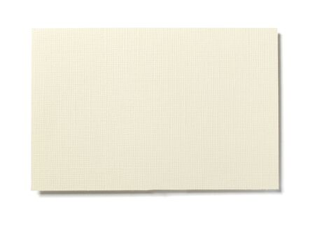 white textured paper: close up of  yellowed textured  piece of paper on white background  with clipping path