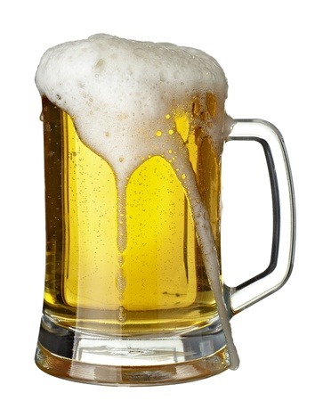 glass of beer: Close-up van glas bier  Stockfoto