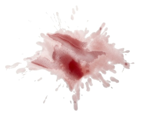 close up red wine stains on white background photo