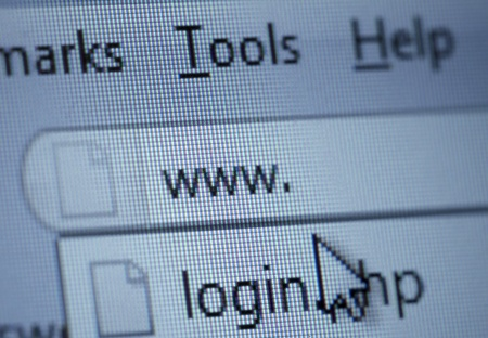 close up of www sign and cursor on internet browser window Stock Photo - 8619185