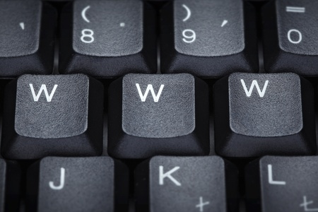close up of word www on compuer keyboard photo