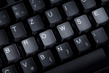 close up of word browse on computer keyboard photo