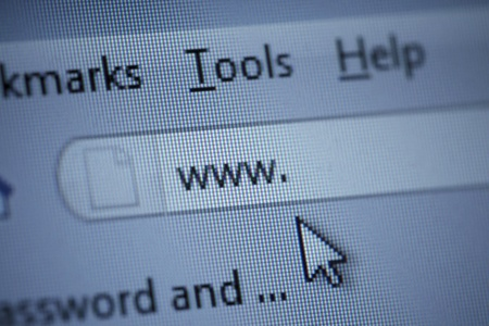 close up of www isign and cursor on internet browser window Stock Photo - 8722183