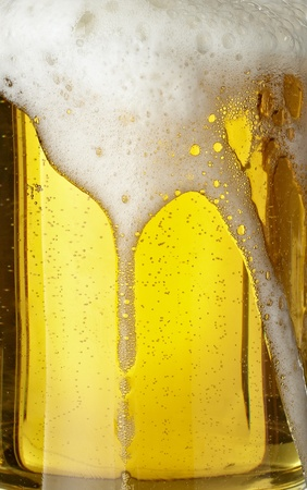 close up of glass of beer on white background  with clipping path Stock Photo - 8722361