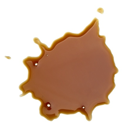 close up coffee stains on white background Stock Photo - 8722324