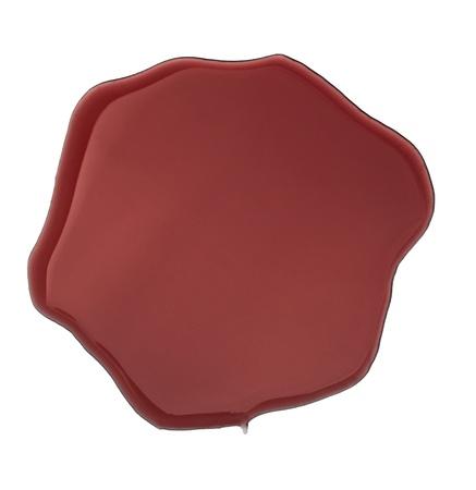 fleck: cerrar las manchas de vinos rojas sobre fondo blanco Foto de archivo