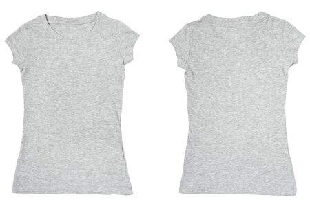 collection of a blank t-shirts on white background. each one is shot separately Stock Photo - 8722376