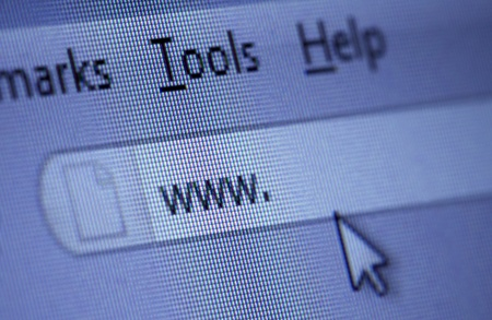 close up of www isign and cursor on internet browser window Stock Photo - 8863134