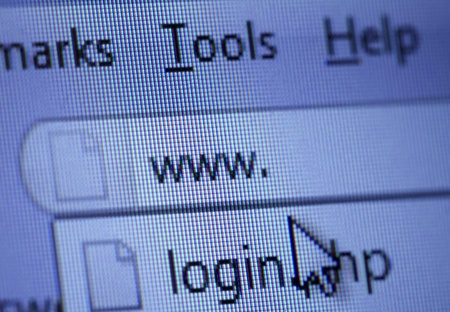 close up of www isign and cursor on internet browser window Stock Photo - 8863144