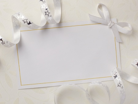 close up of a greeting card with decoration Stock Photo - 8865127