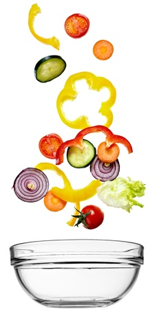 close up of vegetables on white background