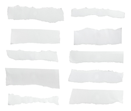 white paper ripped message background Stock Photo - 9071319