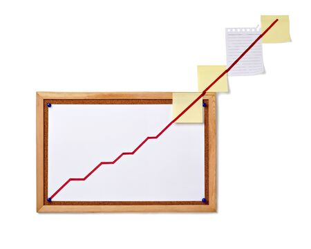 close up of corkboard with finance business graph Stock Photo - 9152005