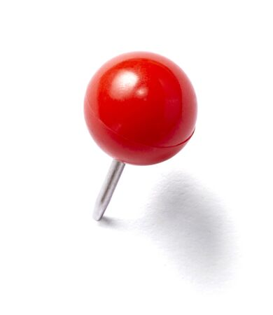 thumb tack: close up of a pushpin on white background with clipping path