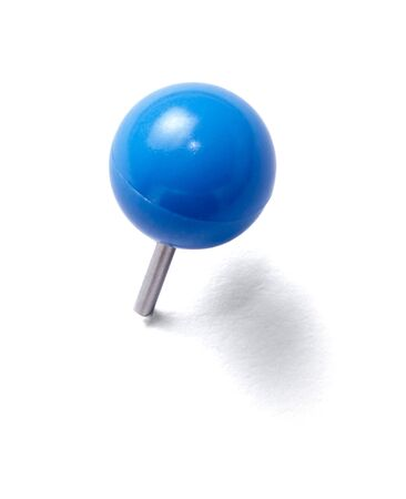 pinboard: close up of a pushpin on white background with clipping path