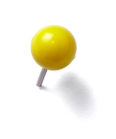 close up of a pushpin on white background with clipping path Stock Photo - 9145304