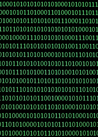 binary matrix: close up of binary numbers background pattern Stock Photo