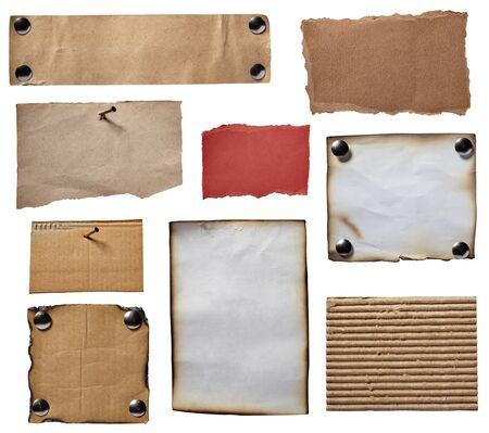 collection of various grunge note papers on white background. each one is shot separately Stock Photo - 9198875